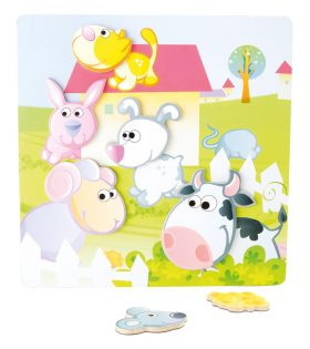 Wooden Farm Magnetic Puzzle by Legler