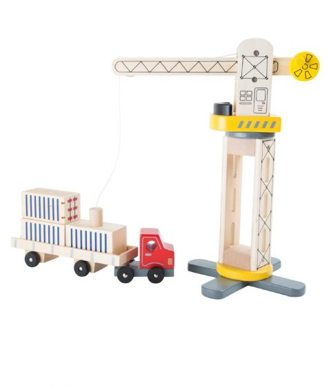 Wooden Crane & Transporter by Legler