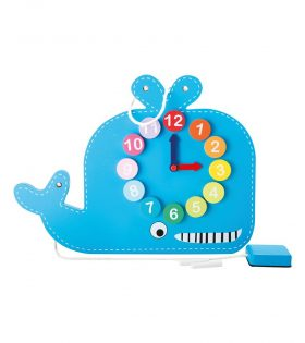 Whale Teaching Clock by Legler