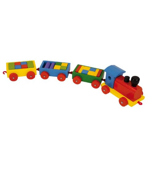 Wooden train toy