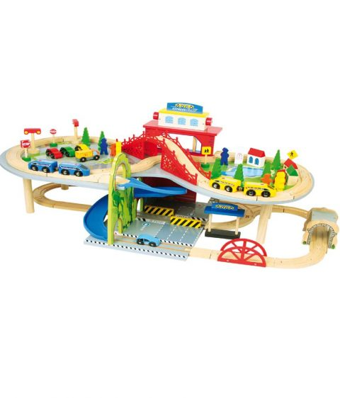 Wooden railway toy
