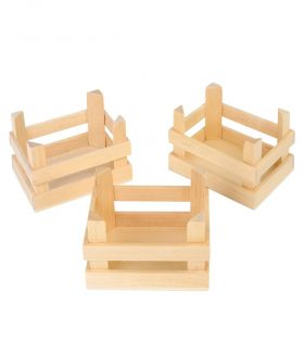 Wooden crate set