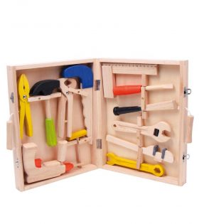 Lino Wooden Toolbox Set
