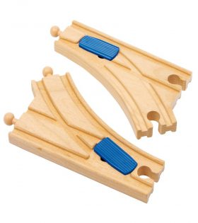 wooden railways switches set