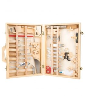 Wooden Deluxe Toolbox Set