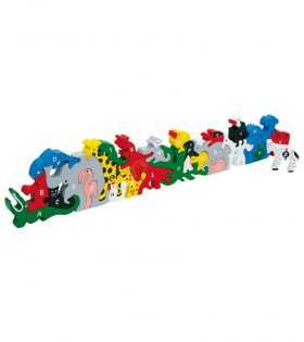Wooden Animal Letters puzzle set