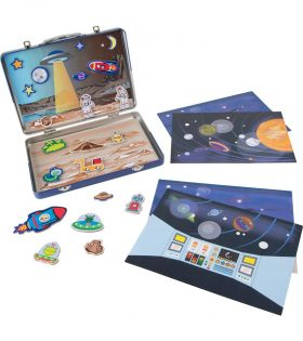 Wooden Magnet Blackboard Space set