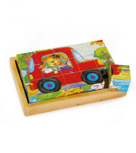 Legler Cube Puzzle Animal Fun