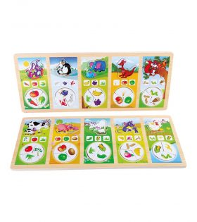 Wooden Puzzle Animal Food