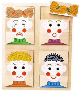 Wooden Puzzle Faces by Legler