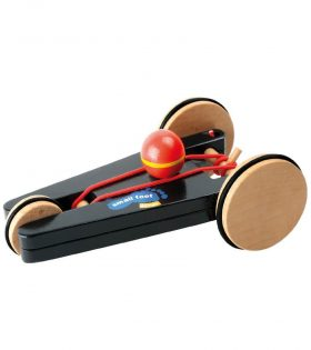wooden Spin-Car with 3 Wheels by legler