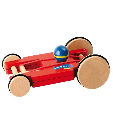 wooden Spin-Car with 4 Wheels