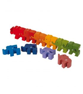 Plug Puzzle Numbers Elephant by Legler