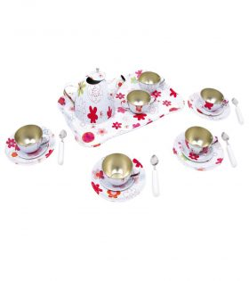 cute floral tea party set for kids