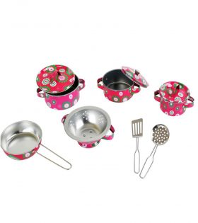 floral kitchen cookware set for kids