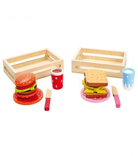 Wooden Hamburger & Sandwich