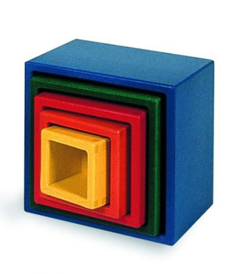 NIC - Nesting Blocks that Stack - Square - 5 pieces 13.5 x 13.5 x 12cm