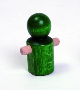 Wooden Little Running Green Man