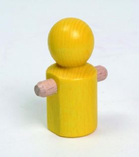 Wooden Little Running Yellow Man