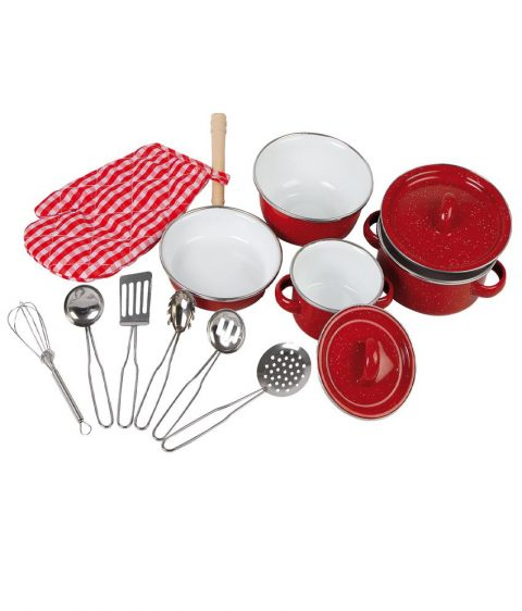 Cookware Red by Legler for Kids