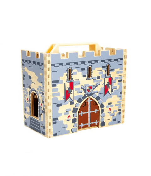 Wooden Knights Castle in a Case by Legler