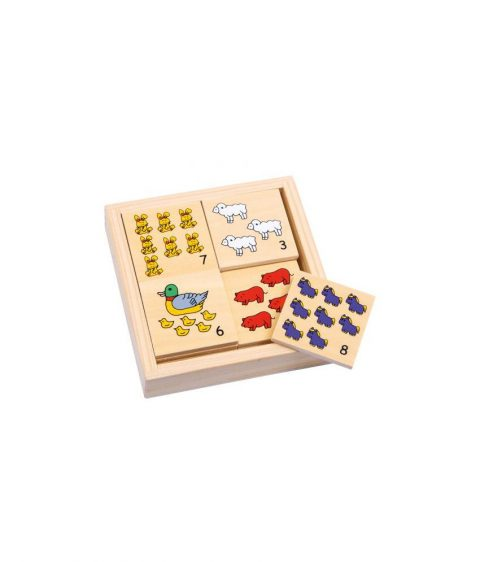 Wooden Memo Farm Animals set