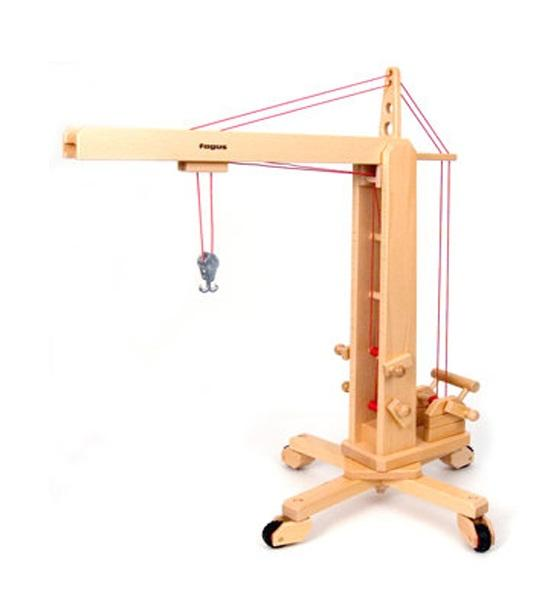 Buy A Wooden Crane For Kids By Fagus A Mouse With A House