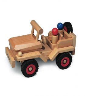 Wooden Jeep for Kids