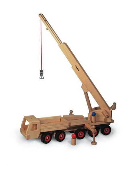 Wooden Mobile Crane for Kids