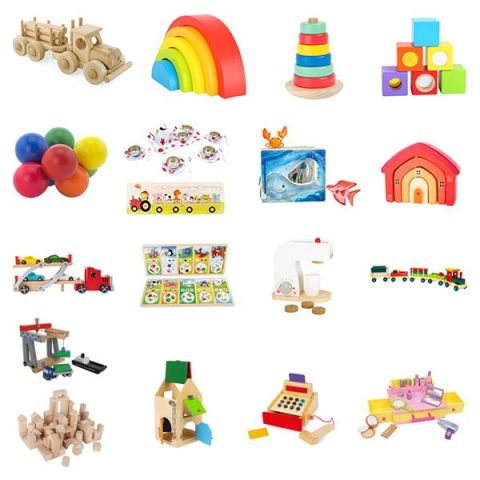 A collection of toys for children in beauty salons waiting room areas.