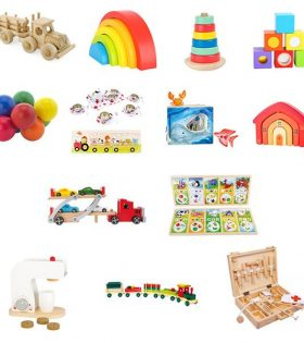 A collection of toys for children in medical centres waiting room areas.