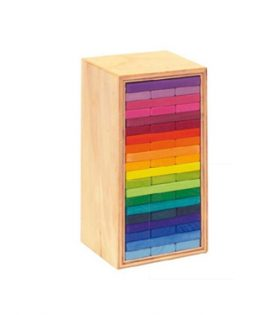 Gluckskafer – Building Slats 'Tower in a Box' coloured 60 parts