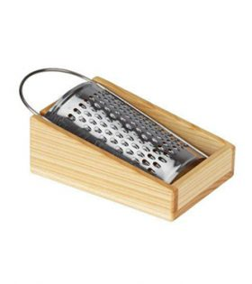 Fine Grater with Wooden Tray 13 x 7 x 4cm