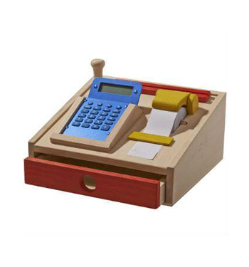 Childrens Wooden Toy Cash Register