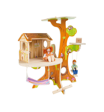 Legler – Treehouse with bending Puppets
