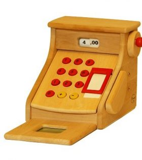 Drewart wooden toy cash register