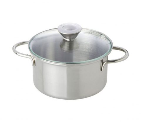 NIC - Stainless Steel Pot with Glass Lid (12 cm)