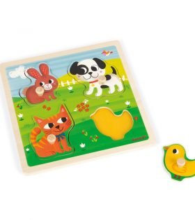 Janod - Tactile Puzzle First Animals