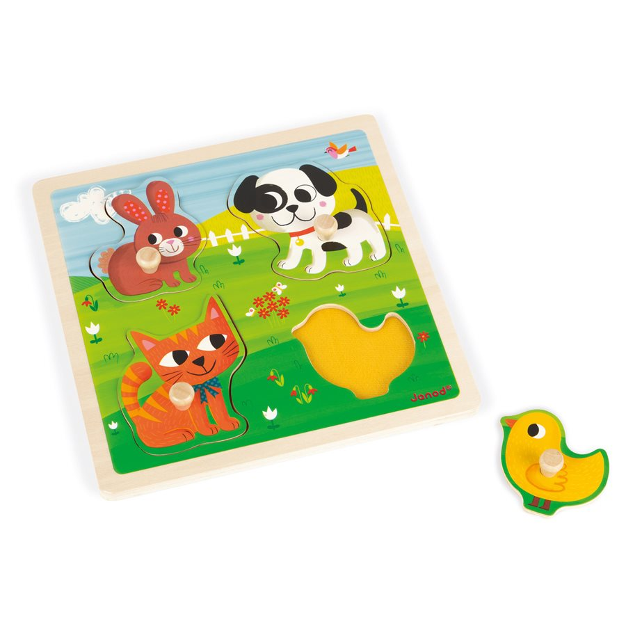 Janod Tactile Puzzle First Animals Amousewithahouse