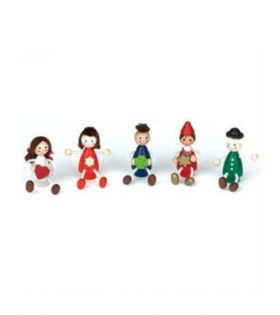 Birthday Ring/Train Figurine 'Children 1' Set of 5