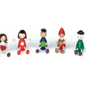 NIC - Birthday Ring/Train Figurine 'Children 1' Set of 5