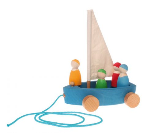 Grimm's Land Yacht with 4 sailors