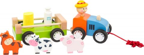 Legler - Farmer with Animals Pull-along Toy