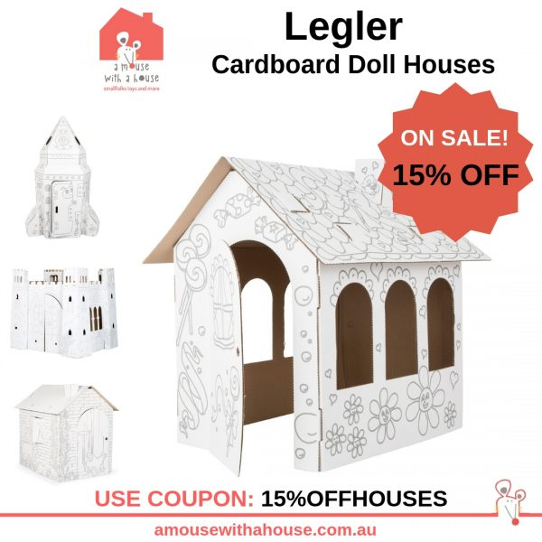 Save 15% OFF Legler Cardboard Doll Houses (various)