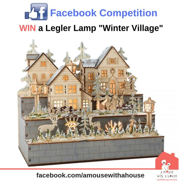 competition - WIN 1 OF 3 Legler Winter Village Decorative Lamp Christmas Decorations