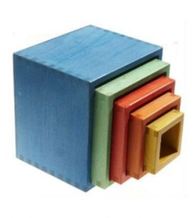 Square Nesting Boxes 13.5×13.5x12cm 5 parts plant-based dyes