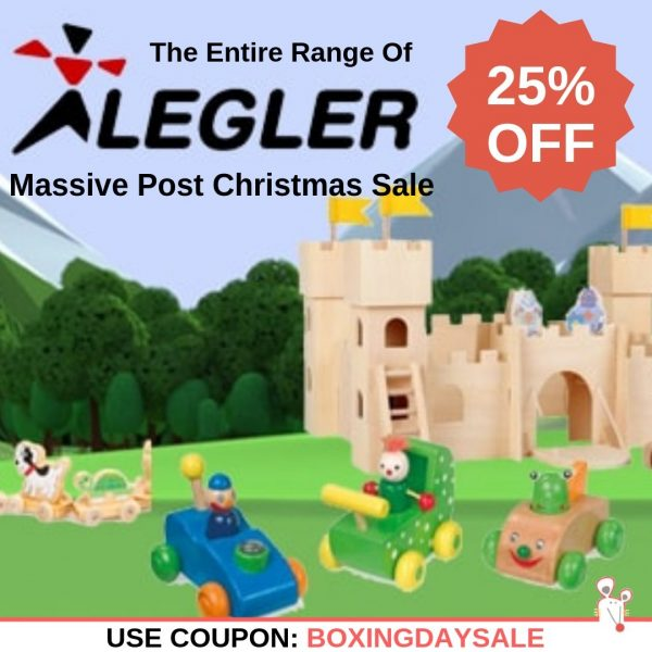 Massive Post Christmas Sale - 25% OFF all Legler Toys