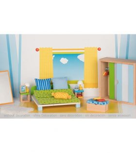 Goki - Furniture for flexible puppets, bedroom