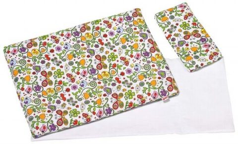 GOKI - Bedding set for dolls, springtime