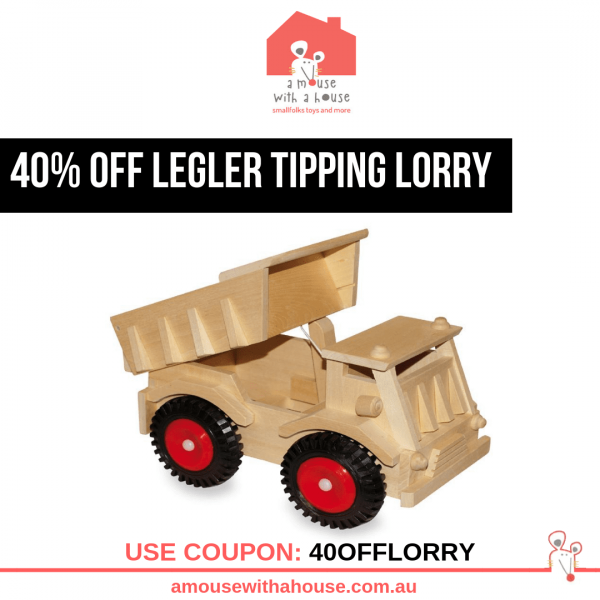 Save 40% OFF Legler – Tipping Lorry with Plastic Tyres